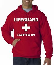 LIFEGUARD HOODIE HOODY CAPTAIN  NEW JACKET SWEATSHIRT LIFE GUARD SHIRT RED Front