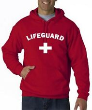 LIFEGUARD HOODIE HOODY Jacket SHIRT SWEATSHIRT LIFE GUARD YMCA Red Arched front