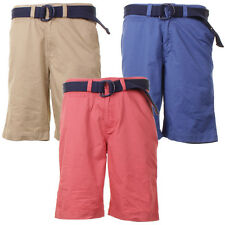 Mens Rodi Mood Knee Length Casual Cotton Shorts With Canvas Belt In 3 Colours
