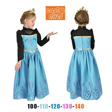 Kids Girl Disney Princess Frozen Anna Elsa Dress Cosplay Party Costume Halloween