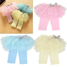 Summer Baby Sweet Girls Party Culottes Gauze Skirts Bow Pleated Dress Pants
