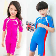 Children Summer Piece Rash Guard Surfing Surf Clothing Scuba Snorkeling Wetsuit