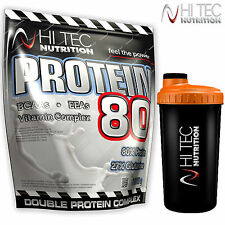 Protein 80 2250g 4,96lb + Shaker Whey Wheat High Concentration of BCAA Glutamine