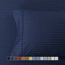 Amazing Comfort Pillowcases 600 Thread Count Striped Combed Cotton (Pair)