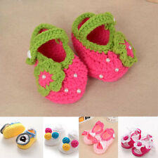 Handmade Newborn Toddler Baby Girls Summer Sandals Knitted Crocheted Shoes