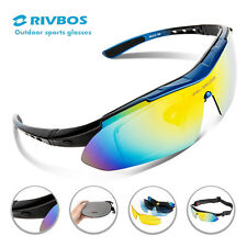 RIVBOS Outdoor Sports Cycling Eyewear Sunglasses 5 lens Bike Glasses Goggles