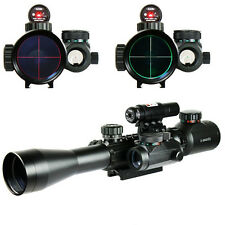 New Style 3-9X40EG Tactical Rifle Scope w/ Red Laser And Holographic Dot Sight