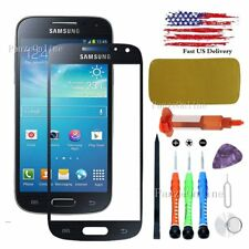 Black Front Screen Glass Lens Replacement  for Samsung Galaxy S4 Mini Tools/Glue