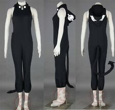 New Soul Eater Medusa Cosplay Costume Any Size Black Suit Set Costume MH