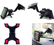 2016 fashion Car Windshield Mount Holder Bracket Double Dual Clip 360° For HTC