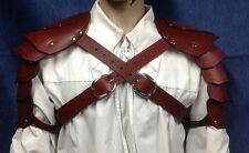 Leather Shoulder Armor Pauldrons Cosplay LARP Steampunk Theater Stage TV