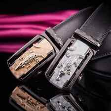 Fashion Mens Genuine Leather Automatic Buckle Brown Black Waist Strap Waistband