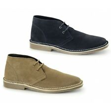 Roamers COLIN Mens Soft Suede Leather Lace Up Smart Causal Desert Boots