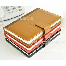 A5 Business PU Leather Notebook Blank Ruled Diary Planner Journal Note Memo Pad