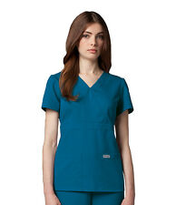 Greys Anatomy 4153 Bahama Junior Fit  3 Pocket Mock Wrap Scrub Top