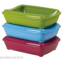 Cat litter tray toilet with removable rim kitten deep square 50cm x 38cm