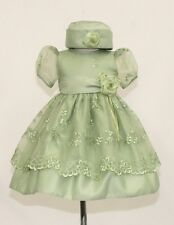 New Infant Girl & Toddler Easter Wedding Party Formal Dress in Sage sz S M L XL
