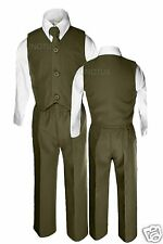 Baby Boys Toddler Wedding Formal Vest Suits Olive Green Sz: 12M 18M 24M 2T 3T 4T