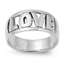 Open Cut Love Ring, 925 Sterling Silver, Thick Band, Funky Girly Style, Glitzy