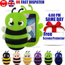 CUTE BEE SOFT SILICONE CASE & FREE SCREEN PROTECTOR For Galaxy Ace S5830