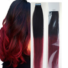 Seamless Skin Tape-in Weft Remy Human Hair Extensions Ombre Hair Straight 16-24""