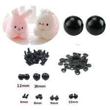 Eyes 100pcs Black Animal/Felting Plastic Toy Safety NEW 6-14mm For Teddy Bear