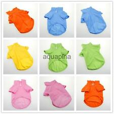 6 Colors Pet Dog T-shirt Puppy Apparel Doggy Clothes Solid-colored Outfit 5 Size