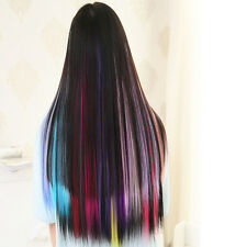 1pcs Women 12 Color Long Straight Synthetic Clip in on Hair Extensions Piece TOP