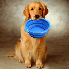 New Style Dog Cat Portable Silicone Collapsible Feeding Bowl Water Dish Feeder D