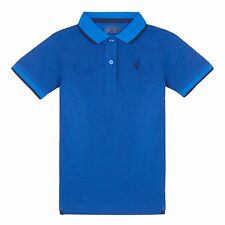 Bluezoo Kids Boys' Blue Textured Polo Shirt From Debenhams
