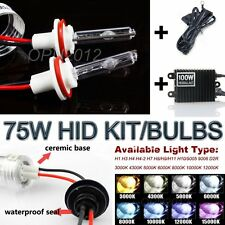 75W HID Kit Auto Car Headlight Conversion Xenon Light Headlamp Bulbs Replacement