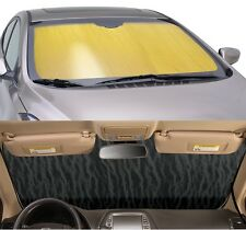 GOLD Sun Shade for windshield - CUSTOM Precision Cut - Fits Infiniti