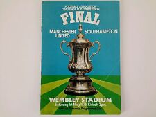 FA Cup Final Programme - MANCHESTER UNITED v SOUTHAMPTON - Wembley 01 May