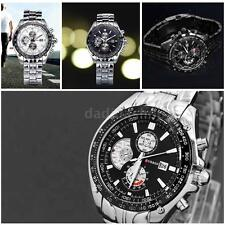 CURREN Men Black Dial Stainless Steel Analog Date Sport Quartz Wrist Watch I9S2