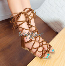 Womens Gladiator Sandal Lace Up Ankle Strap Boot Hollow Out Roma Shoes All US Sz