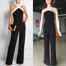Women Clubwear Halter Sleeveless Playsuit Bodycon Party Jumpsuit&Romper Trousers