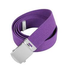 PURPLE BELT WITH GOLD BUCKLE 100% Cotton Military Web Belts Rothco 4178
