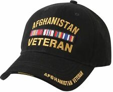 AFGHANISTAN Veteran Black Cap Adjustable Deluxe Low Profile Military Hat Rothco