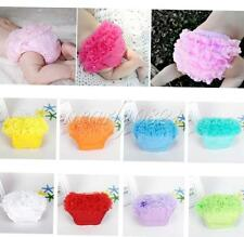 Girls Baby Infant Lace Ruffles Bloomer Panties Briefs Diaper Nappy Cover 3-24M