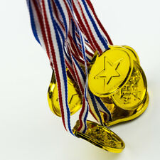 Children Gold Plastic Winners Medals Sports Day Party Bag Prize Awards Kids Toys