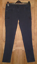 Dorothy Perkins New Skinny Slim Fit Navy Blue Combat Jeans Size 8  Bnwot