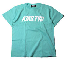 KIKS TYO Classic Logo T-shirt Mint Green White size L XL from Japan tiff dunk sb