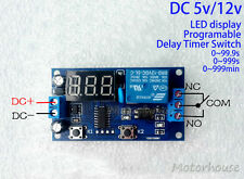 DC 5V 12V Timer Delay Relay Switch Adjustable Time Relay Module Programmable Car
