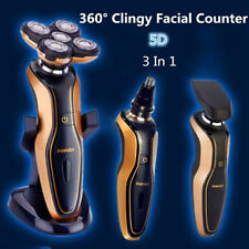5D 3in1 Electric Razor Rotary Shaver Rechargeable Waterproof Nose Hair Trimmer