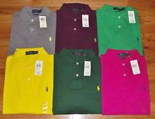 NWT Mens Polo Ralph Lauren Classic Fit Polo Shirt Pony Logo Choice 6 Colors *C4