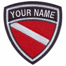 SCUBA CUSTOM CREST FLAG NAME EMBROIDERED PATCH