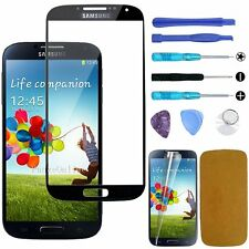 Black Outer Screen Glass Lens Replacement Repair Kit for Samsung Galaxy S4 I9500