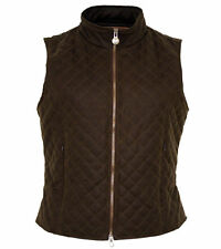Outback Trading Ladies Quilted Oilskin Vest 2177-BRZ