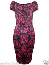 Ex LONG TALL SALLY Dress Floral Print Party Cocktail Vintage Size 10-22 Tall