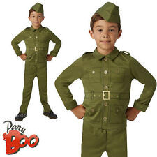 WW2 Soldier Boys Fancy Dress Kids 1940s World War 2 Childs Army Costume Outfit